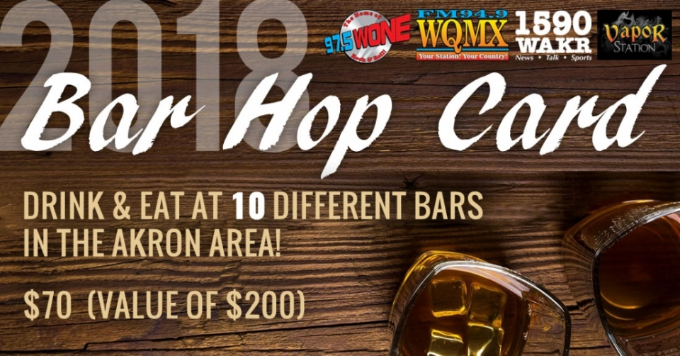 2018 Bar Hop Card