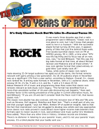 30 Years of Rock