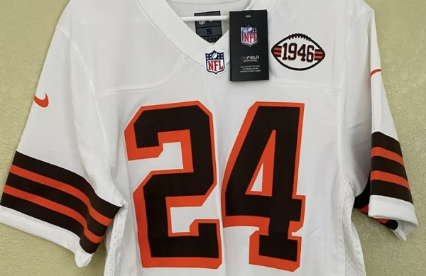 Leaked photo of the Browns new 75th anniversary alternate jersey?